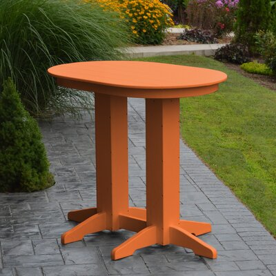 Nettie Bar Table Color: Orange
