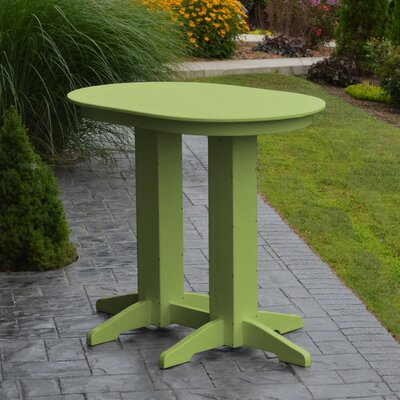 Nettie Bar Table Color: Lime Green
