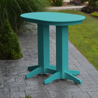 Nettie Bar Table Color: Aruba Blue
