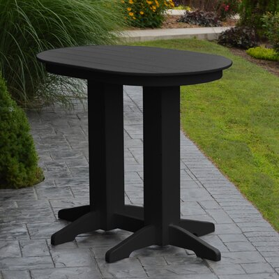 Nettie Bar Table Color: Black