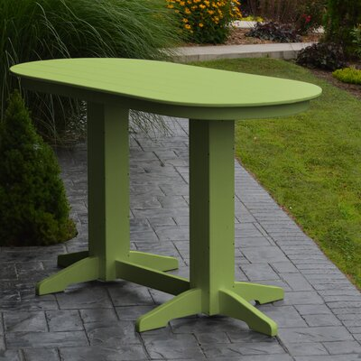 Nettie DiningTable Color: Lime Green, Table Size: 72 L x 33 W
