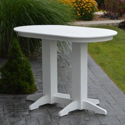 Nettie DiningTable Color: White, Table Size: 60 L x 33 W