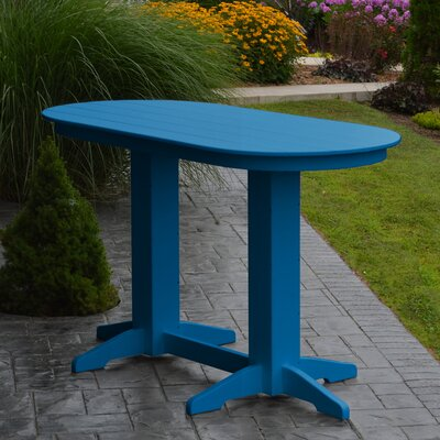 Nettie DiningTable Color: Blue, Table Size: 60 L x 33 W