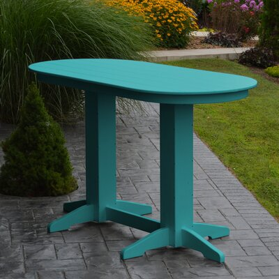 Nettie DiningTable Color: Aruba Blue, Table Size: 60 L x 33 W