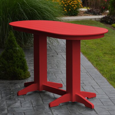 Nettie DiningTable Color: Bright Red, Table Size: 60 L x 33 W