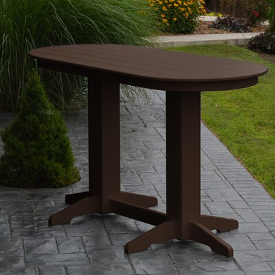 Nettie DiningTable Color: Tudor Brown, Table Size: 60 L x 33 W