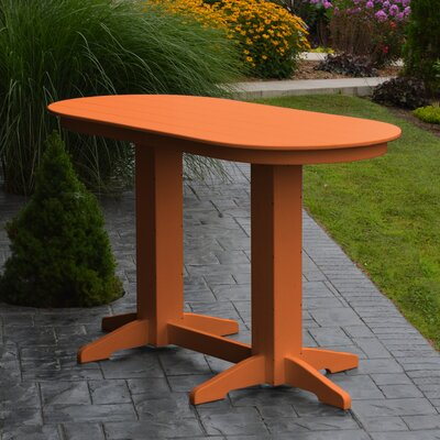 Nettie DiningTable Color: Orange, Table Size: 72 L x 33 W