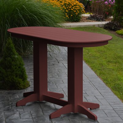 Nettie DiningTable Color: Cherrywood, Table Size: 60 L x 33 W