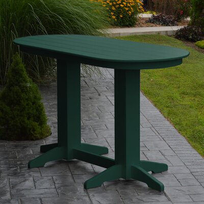 Nettie DiningTable Color: Turf Green, Table Size: 60 L x 33 W