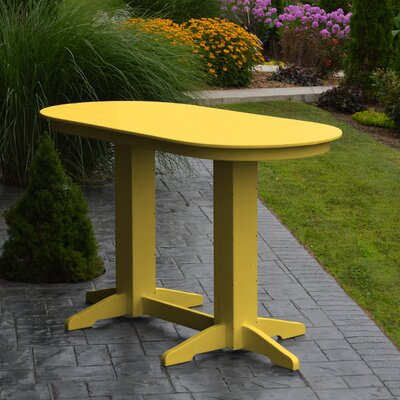 Nettie DiningTable Color: Lemon Yellow, Table Size: 60 L x 33 W