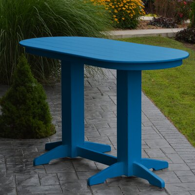 Nettie DiningTable Color: Blue, Table Size: 72 L x 33 W