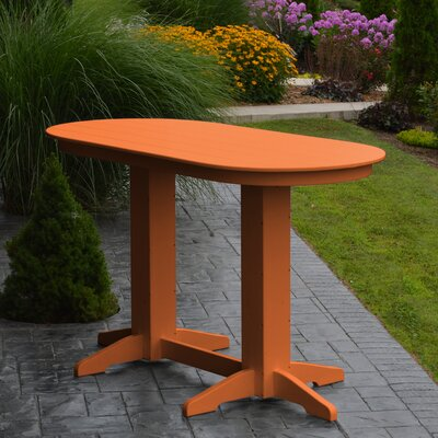 Nettie DiningTable Color: Orange, Table Size: 60 L x 33 W