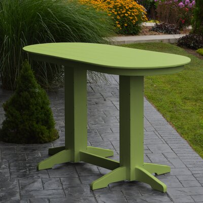 Nettie DiningTable Color: Lime Green, Table Size: 60 L x 33 W