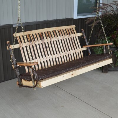 Hickory Porch Swing Finish: Rustic Hickory, Size: 30 H x 50 W x 30 D