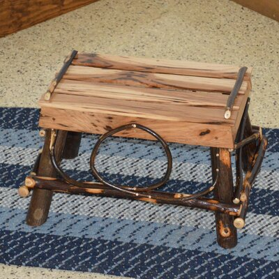 Hickory Ottoman Upholstery: Rustic Hickory
