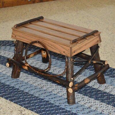 Hickory Footstool Upholstery: Walnut