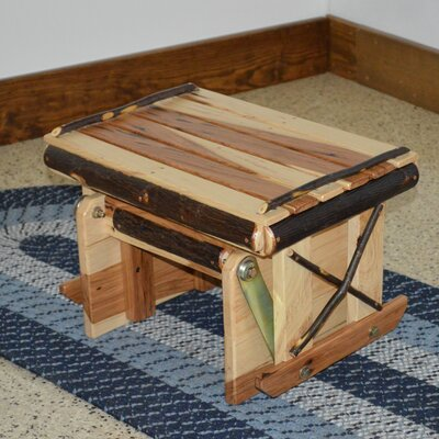 Hickory Gliding Ottoman Upholstery: Rustic Hickory