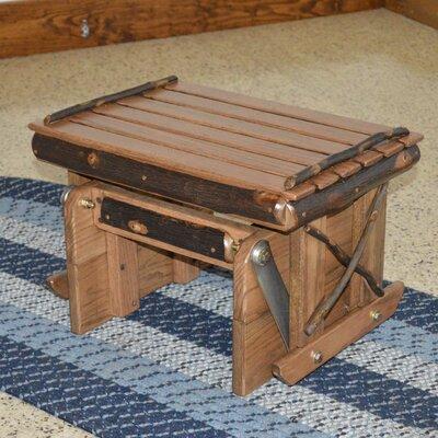 Hickory Gliding Ottoman Upholstery: Walnut