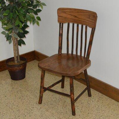 Hickory Solid Wood Dining Chair Finish: Walnut