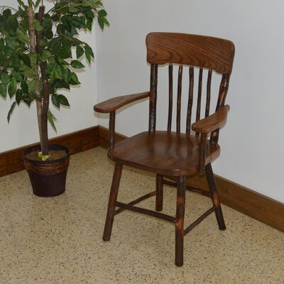 Hickory Solid Wood Dining Chair Color: Walnut