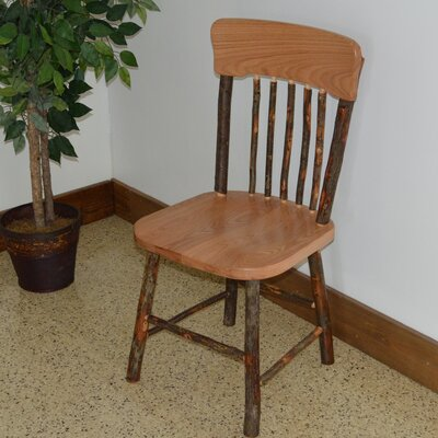 Hickory Solid Wood Dining Chair Finish: Natural