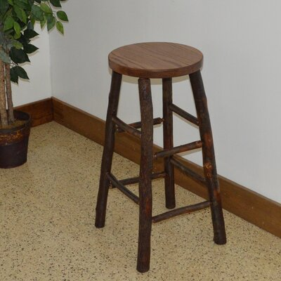 Hickory 30 Bar Stool Color: Walnut