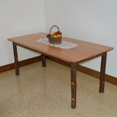 Hickory Dining Table Color: Natural