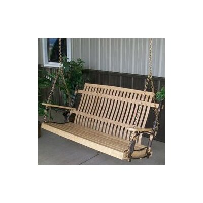 Hickory Porch Swing Finish: Natural, Size: 30 H x 50 W x 30 D