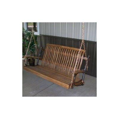 Hickory Porch Swing Finish: Walnut, Size: 30 H x 50 W x 30 D