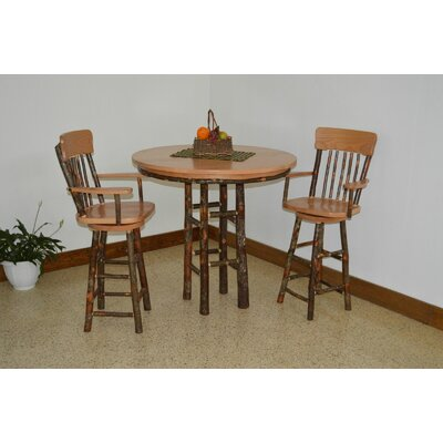 Hickory 3 Piece Dining Set