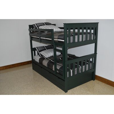 Mission Bunk Bed Bed Frame Color: Dark Green, Size: Twin Over Full Mission Bunkbed