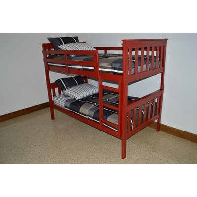 Mission Bunk Bed Bed Frame Color: Tractor Red, Size: Twin Over Full Mission Bunkbed