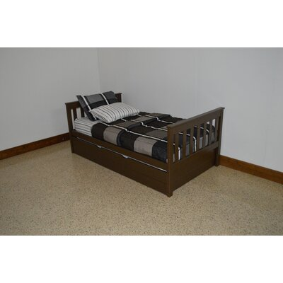 Mission Bed Size: Twin Mission Bed, Bed Frame Color: Coffee