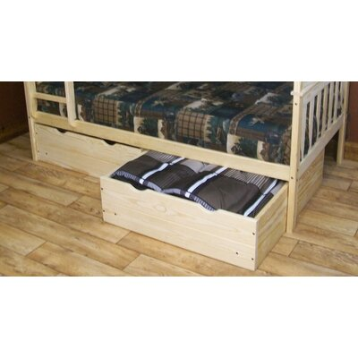 2 Piece Underbed Storage Drawer Set Size: Twin, Color: Unfinished