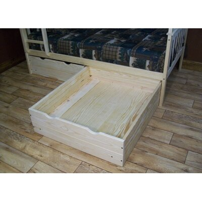 2 Piece Underbed Storage Drawer Set Size: Twin, Color: White