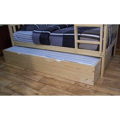 Trundle Unit Size: Twin Trundle Bed, Color: Unfinished