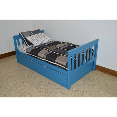 Mission Bed Bed Frame Color: Carribean Blue, Size: Full Mission Bed