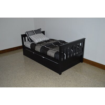 Mission Bed Bed Frame Color: Black, Size: Full Mission Bed