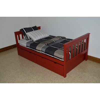 Mission Bed Bed Frame Color: Tractor Red, Size: Full Mission Bed