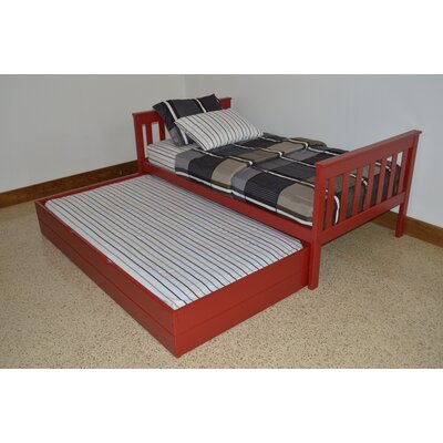 Trundle Unit Size: Full Trundle Bed, Color: Tractor Red