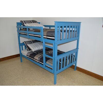 Mission Bunk Bed Size: Twin Over Full Mission Bunkbed, Bed Frame Color: Carribean Blue