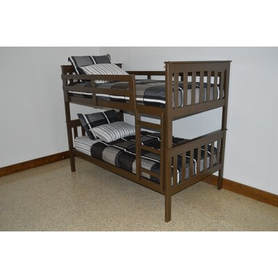 Mission Bunk Bed Size: Twin Mission Bunkbed, Bed Frame Color: Coffee