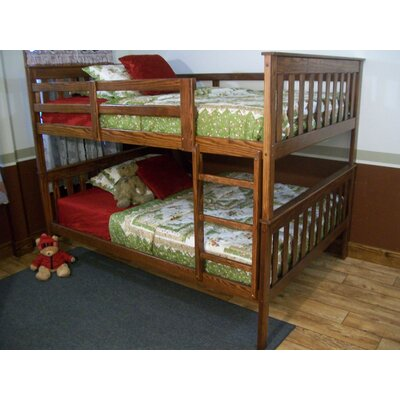 Mission Bunk Bed Bed Frame Color: Clear Finish, Size: Twin Over Full Mission Bunkbed