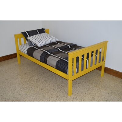 Mission Bed Size: Twin Mission Bed, Bed Frame Color: Canary
