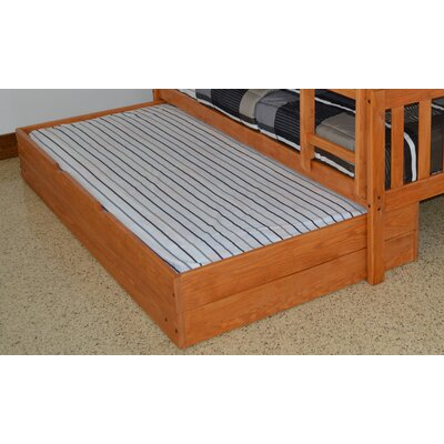 Trundle Unit  Color: Honey, Size: Twin Trundle Bed