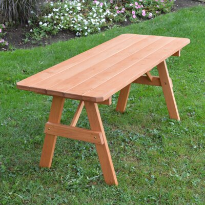 Steuben Pine Picnic Table Finish: Cedar Stain