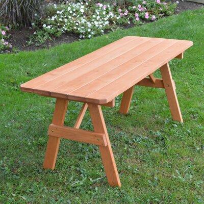 Sirretta Pine Picnic Table Finish: Cedar Stain