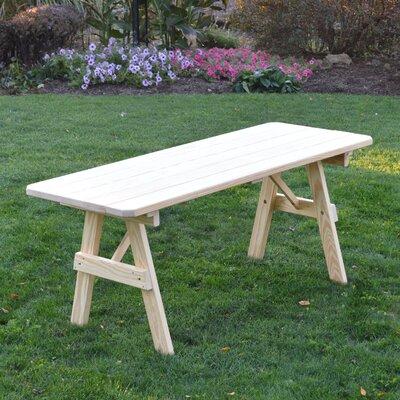 Scipio Pine Picnic Table Finish: Unfinished