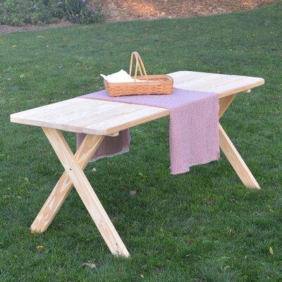 Tristan Pine Cross-leg Picnic Table Finish: Unfinished