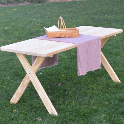 Rosendale Pine Cross-leg Picnic Table Finish: Unfinished